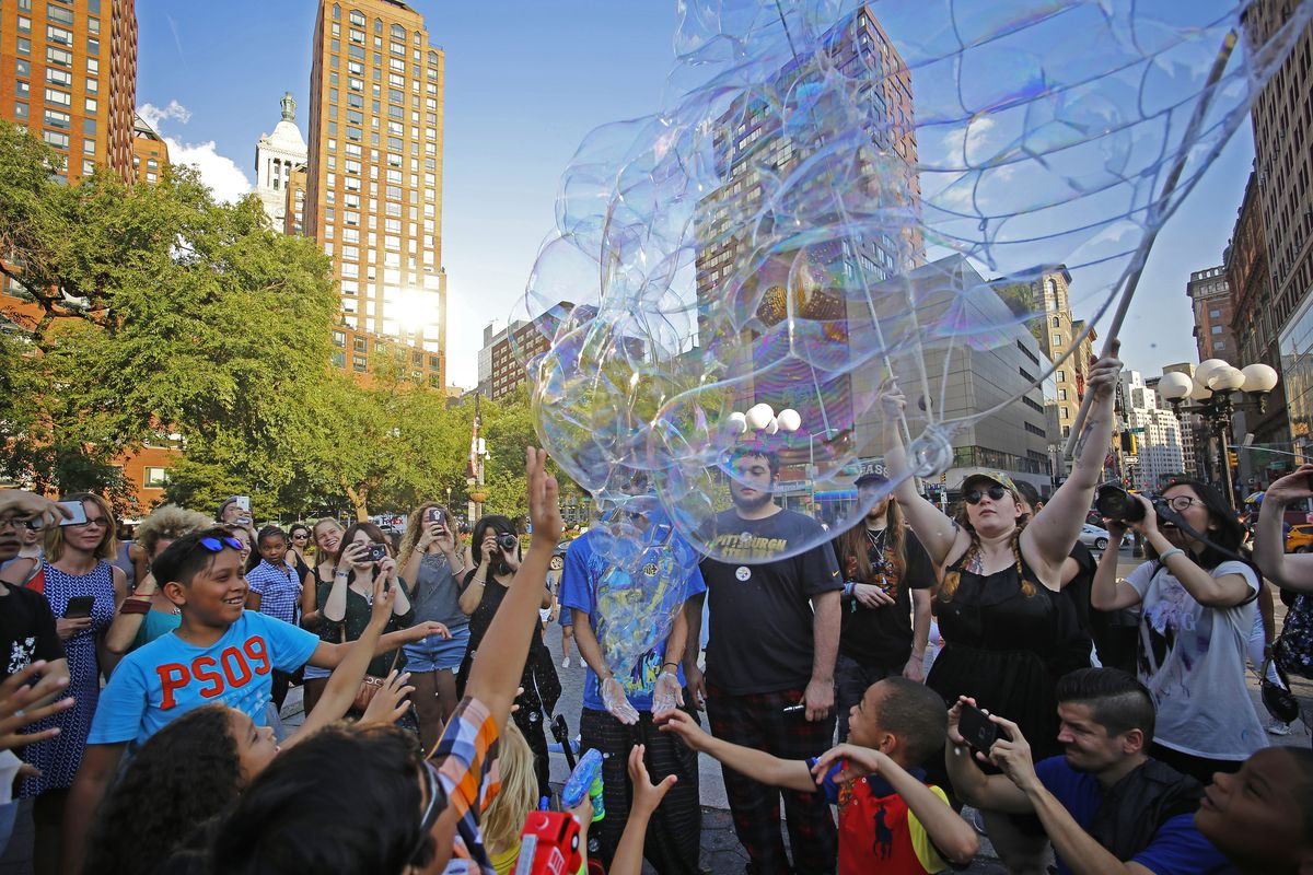 The 11th annual Bubble Battle drew more than one hundred...