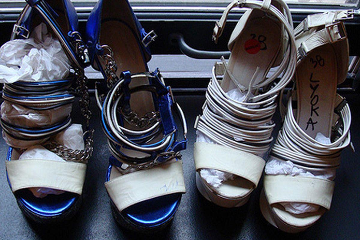 "Shoes at last December's sale via <a href=""http://nylonmag.com/nylonblogs/blog/2009/12/03/rodarte-at-the-ace-hotel/"">Nylon</a>"