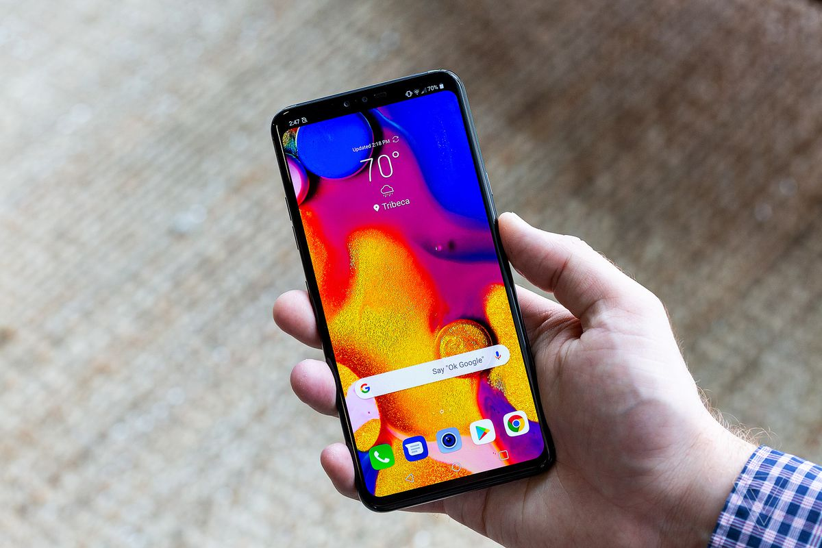 Image result for LG Launches V40 ThinQ With 6.4 Inch OLED Display And Five Cameras