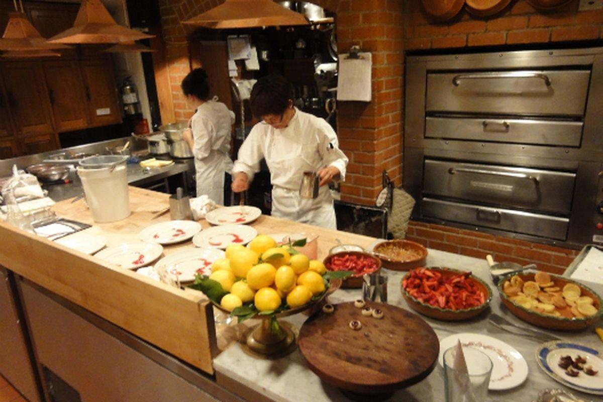 Pastry at Chez Panisse.