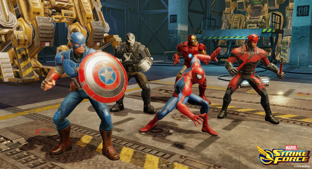 Captain America, Crossbones, Spider-Man, Iron Man, and Daredevil are five popular heroes in the game.