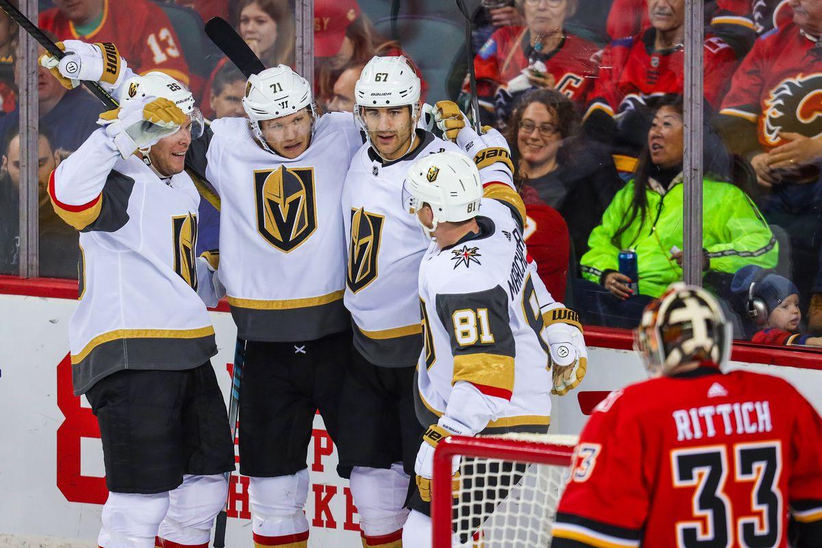 NHL: Vegas Golden Knights at Calgary Flames