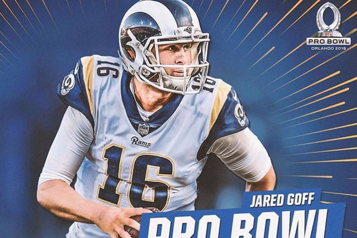 huge selection of 545d7 f9bcb Los Angeles Rams QB Jared Goff selected for Pro Bowl - Turf ...