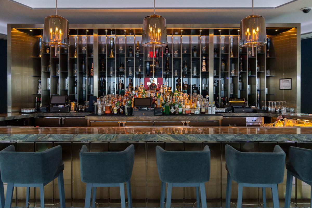 The bar at Apex Social Club