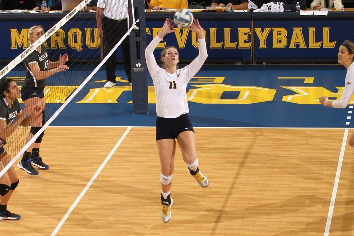 Sara Blasier had 31 assists and four aces against the Hoyas.
