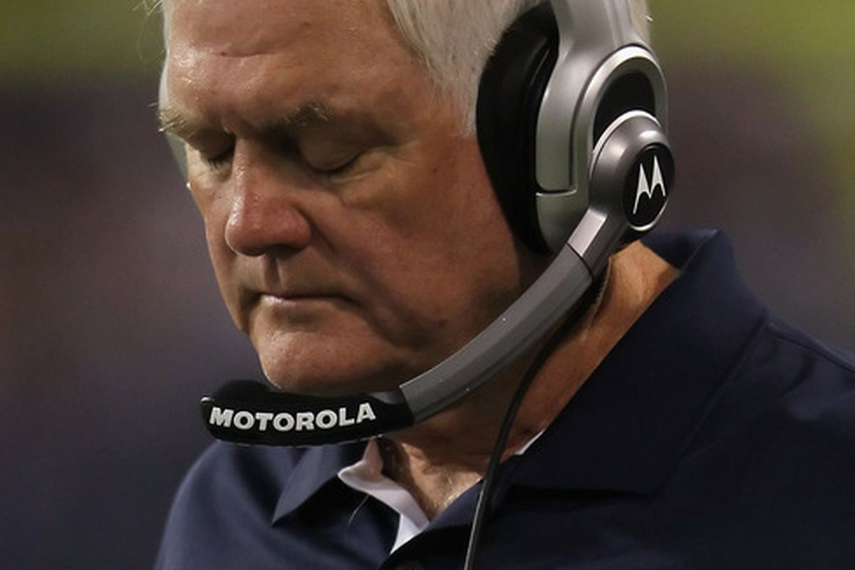 Dallas Cowboys head coach <strong>Wade Phillips</strong>.  (Photo by Jeff Gross/Getty Images)