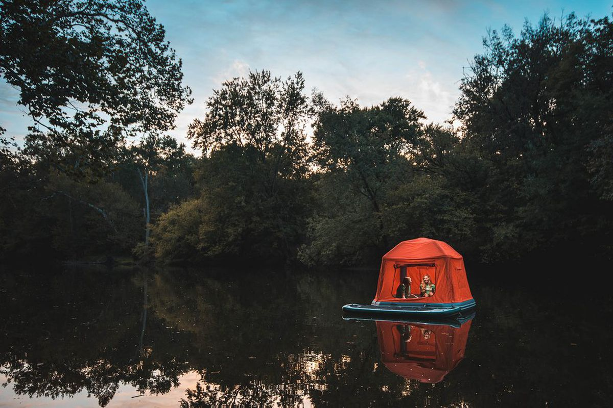 Floating tent lets you camp on water