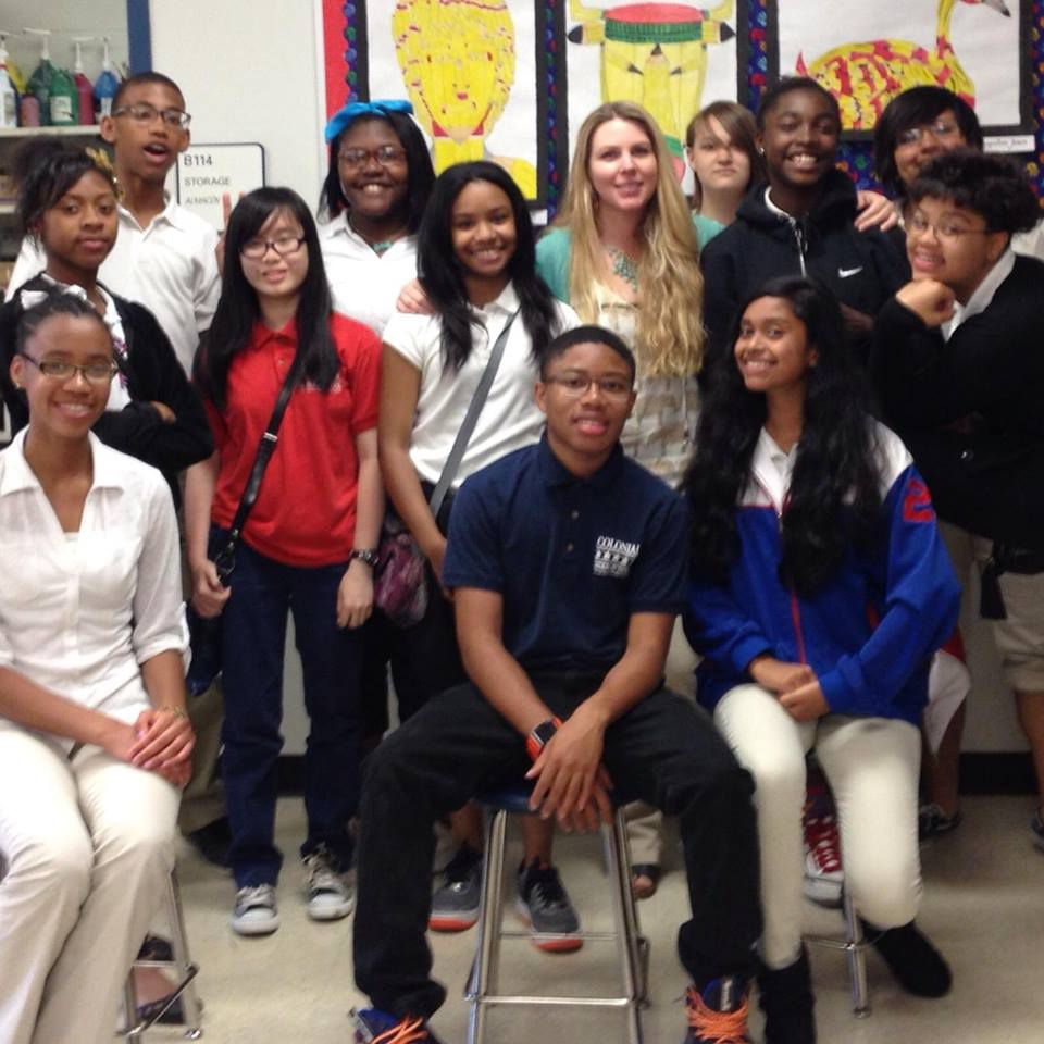 Jennifer Shiberou, a teacher at Colonial Middle School, is the 2014-15 Middle Level Art Teacher of the Year.