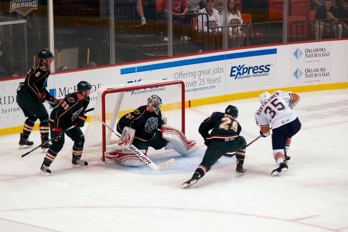 """<a href=""""http://okcbaronshockeyblog.blogspot.com/"""" target=""""new"""">Photo by Candace Riley</a>, © 2011, All Rights Reserved."""