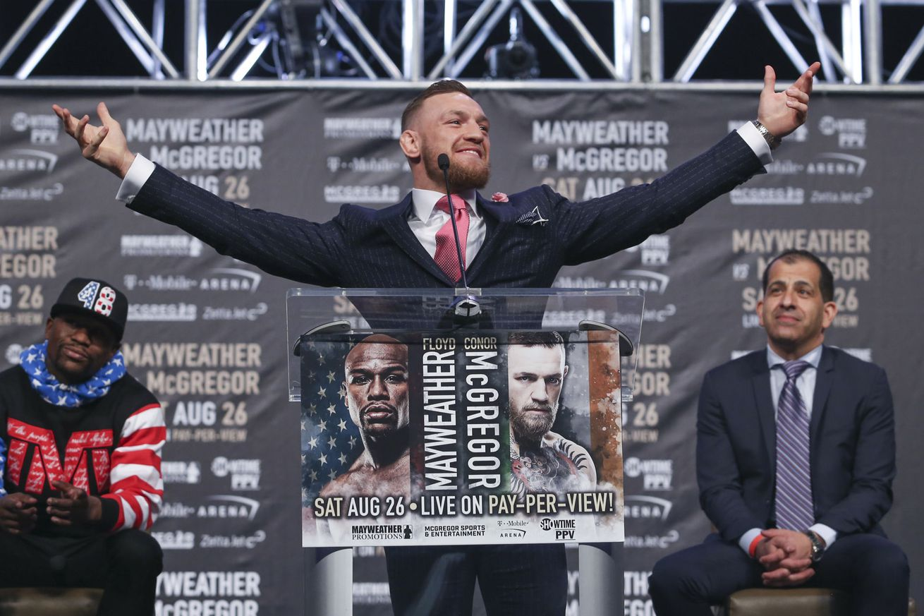 The Mayweather vs. McGregor world tour kicked off with a few head games