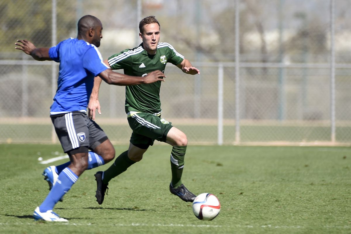 Former Portland Timbers draft pick Christian Volesky opened the scoring for Rochester on Sunday