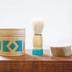 """Pine Wood Victor Shaving Kit by Son of a Sailor, <a href=""""http://www.brika.com/pine-wood-victor-shaving-kit-more-colors"""">$56</a>"""