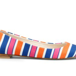 Striped Canvas Pointed Toe Flat, $128