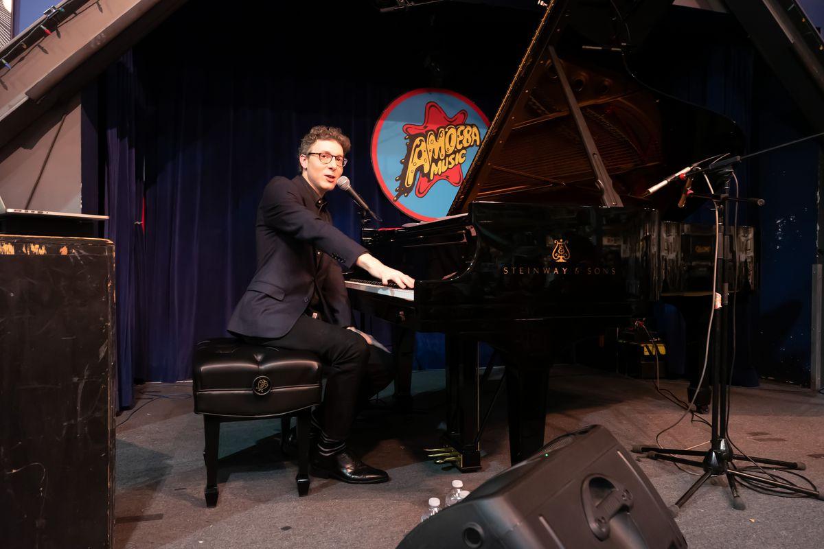 Nicholas Britell performing at Amoeba Music in Hollywood, CA