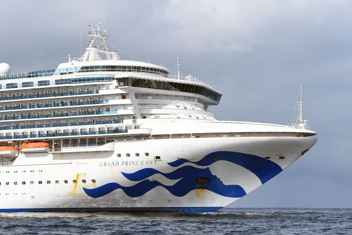 The Grand Princess cruise ship, whose passengers will begin disembarking at the Port of Oakland on Monday, March 9