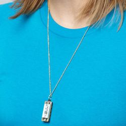 """Harmonica Necklace, <a href=""""http://www.fredflare.com/ACCESSORIES-jewelry/Harmonica-Necklace/"""">$12</a>"""
