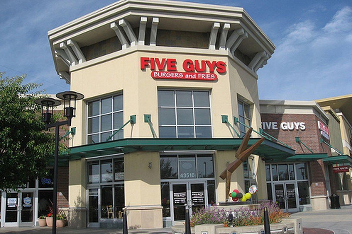 Five Guys, now open in Freemont.