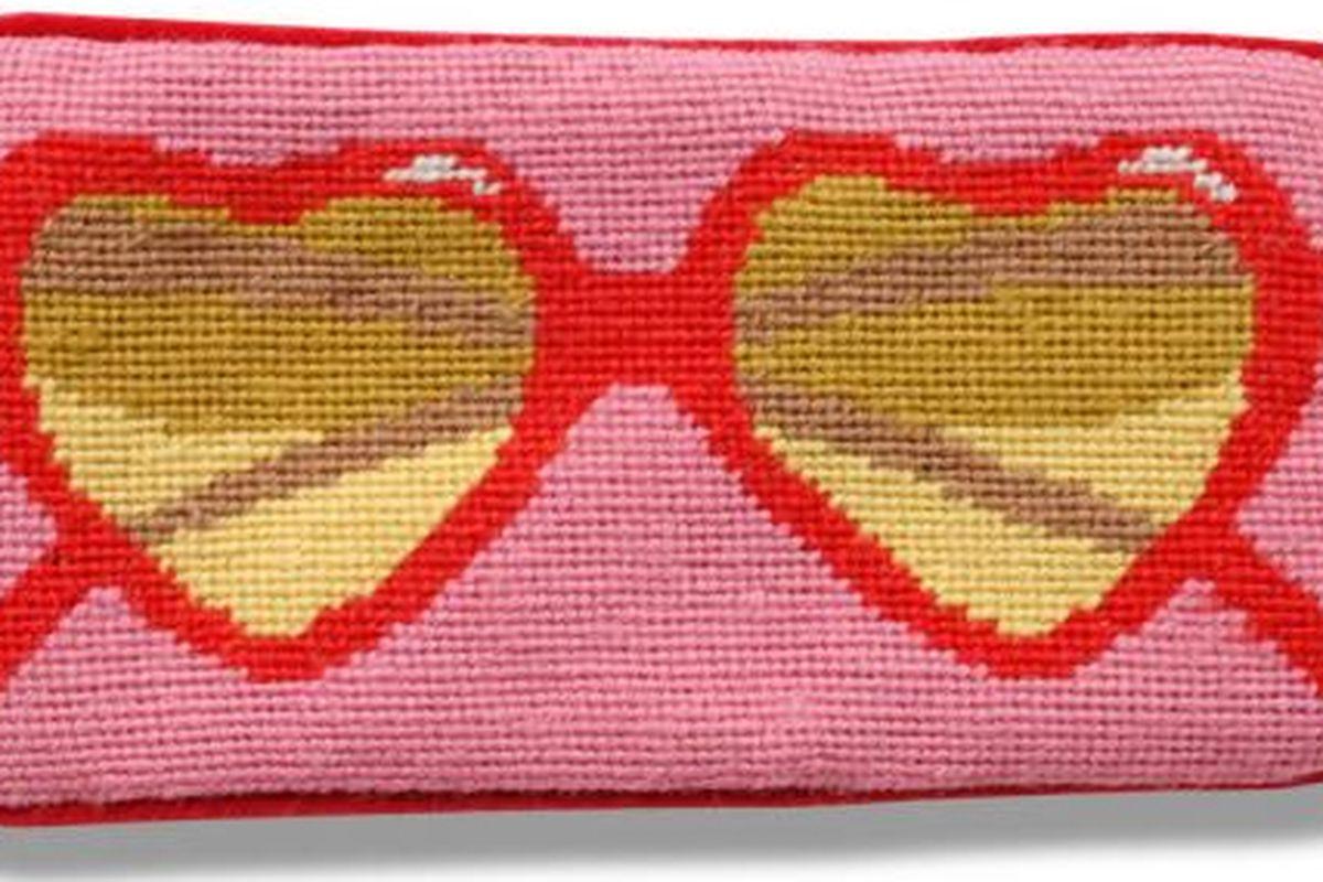 """Jonathan Adler Pink Heart Sunglass Case, <a href=""""http://www.jonathanadler.com/pink-heart-sunglass-case-7763-pr-20369/?cat=1324"""">$42</a>"""