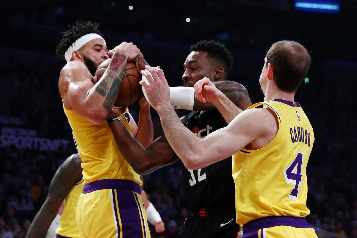 Alex Caruso thinks Lakers can be 'really good' defensively, and that Anthony Davis can win Defensive Player o…