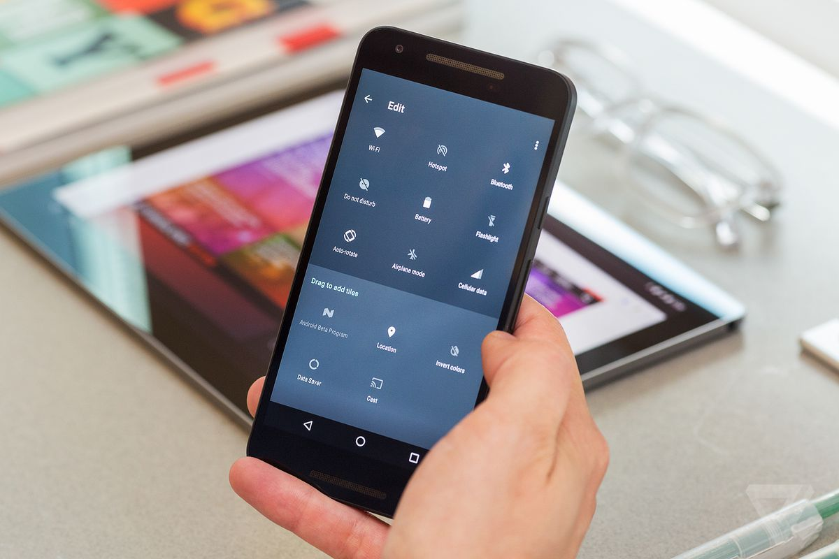 Android N settings screen