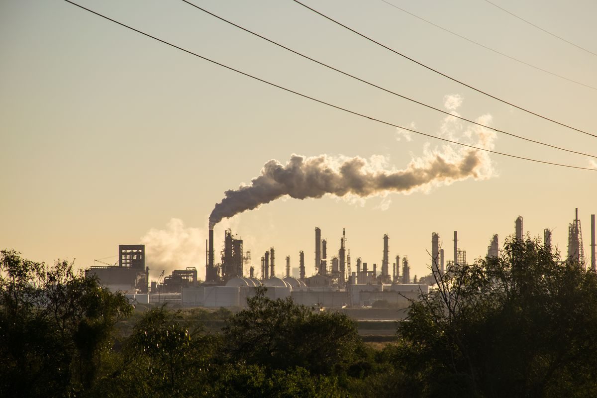 An oil refinery in Corpus Christi, Texas.