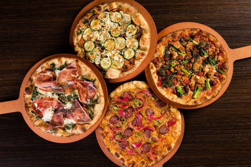 Pizzas at the Alamo Drafthouse