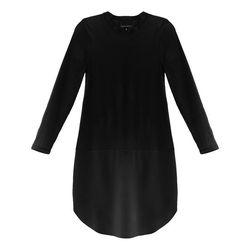 "Cynthia Rowley cotton combo shirttail dress, <a href=""http://www.cynthiarowley.com/dresses/cotton-combo-shirttail-tunic.html?color=Black&size=XS"">$150</a>"