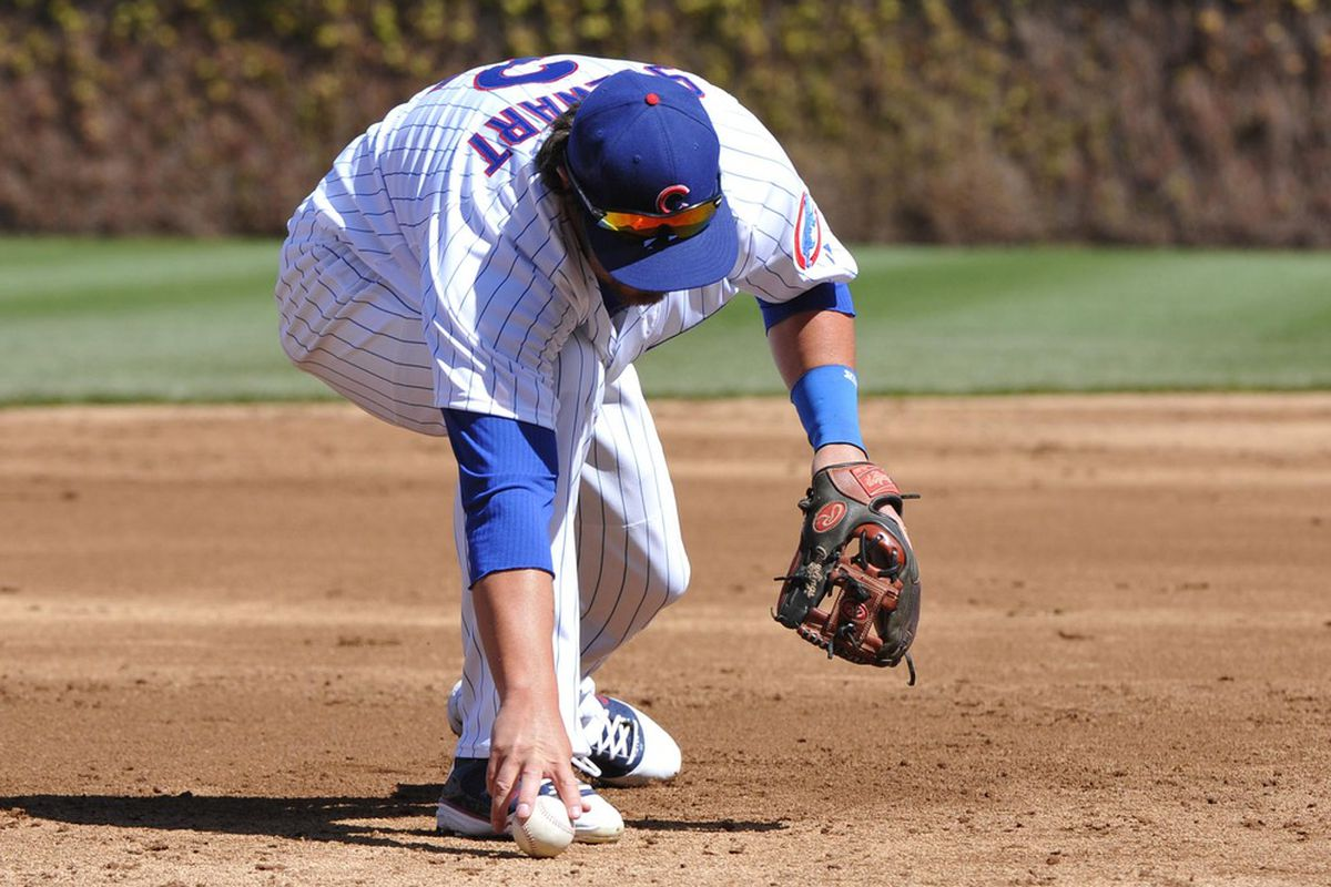 Ian Stewart of the Cubs also committed an error, much like EVERY SINGLE PADRES PLAYER THIS SEASON.