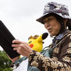 Higasasi came from Japan to attend the 2019 Pokémon Go Fest in Grant Park, Thursday, June 13th, 2019.