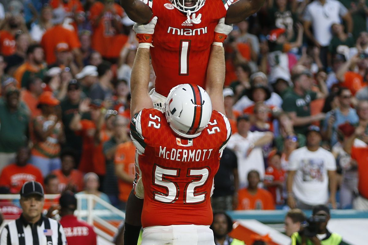 online store e9c8c f8365 Miami Hurricanes 2018 NFL Draft Profile: Guard KC McDermott ...