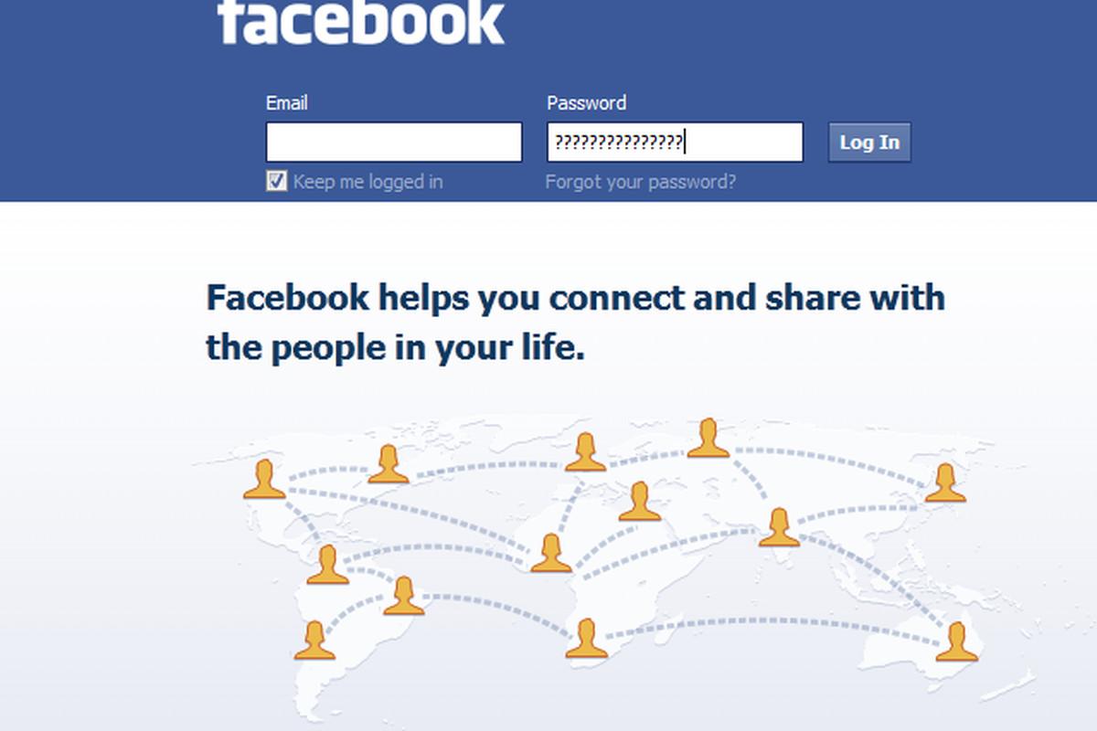 Facebook Login question marks