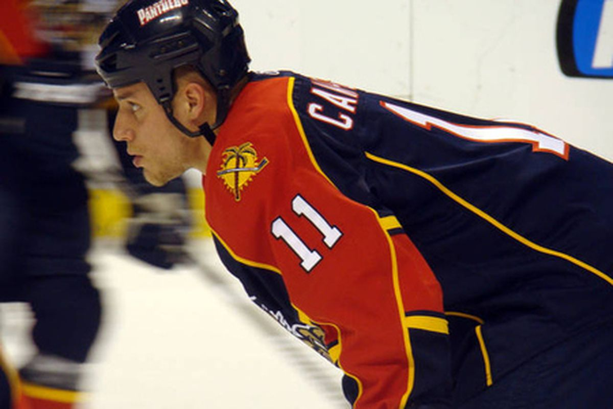 Gregory Campbell, Florida Panthers, courtesy of Van Murph