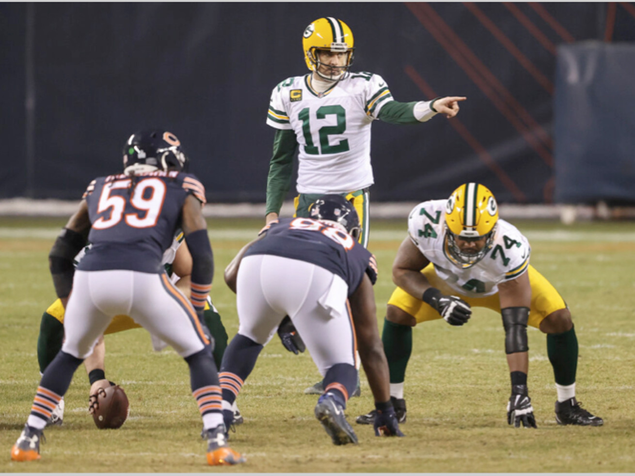 Aaron Rodgers is 21-5 against the Bears.