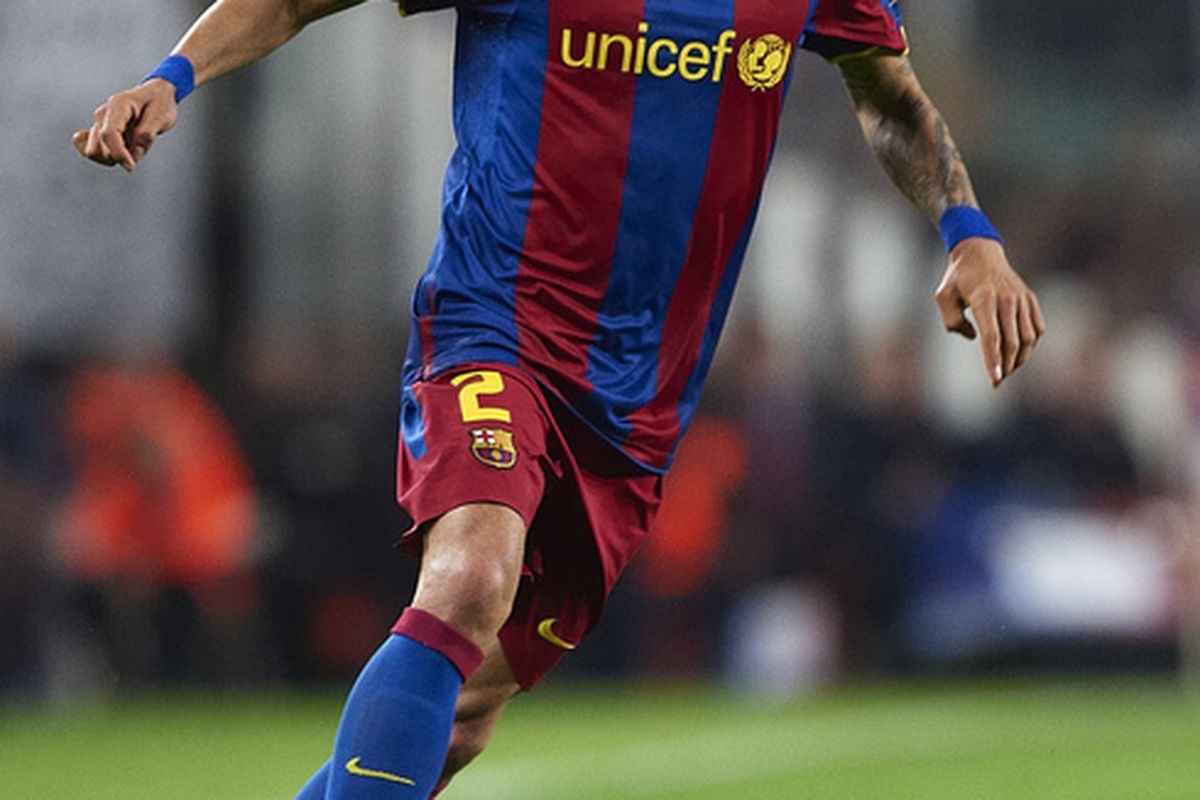 WIth Alves suspended for the first game and Adriano injured, Guardiola will have to field a completely different backline.