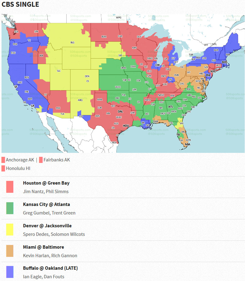 Week 13 NFL TV Listings for the Cleveland area - Dawgs By Nature