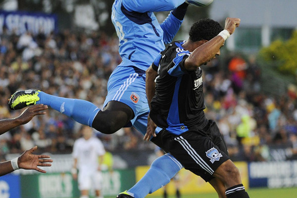The play of Scott Sealy was one of the bright spots for the Earthquakes on a night the fell 2-0 to visiting DC United.