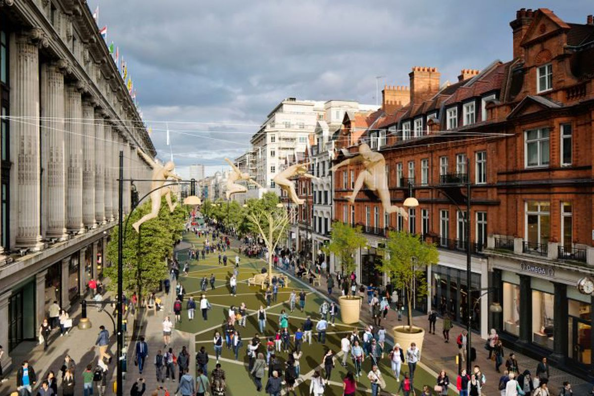 proposal for car-free Oxford Street in London