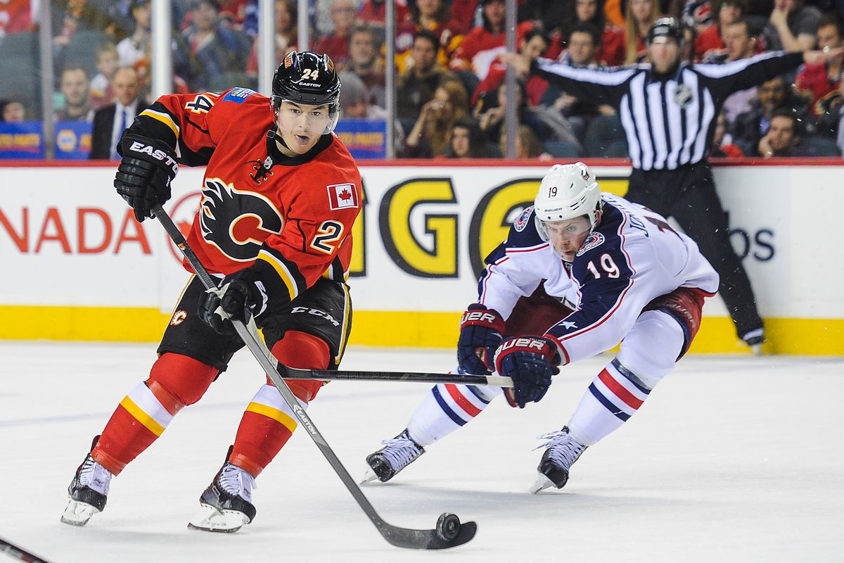 Jiri Hudler leads the Flames in scoring.