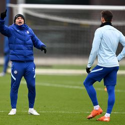 The front of Lampard and the back of Giroud