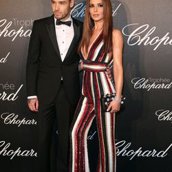 Liam Payne and Cheryl Cole, wearing Zuhair Murad, at the Chopard Trophy Ceremony.