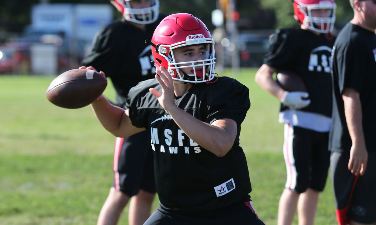 Maine South's Luke Leongas during a practice.