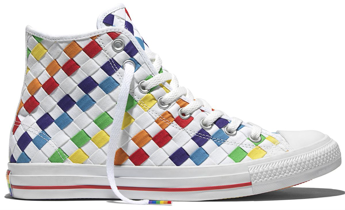 14fcfbda2439a6 This is the third year that Converse has been involved with Pride. This  year s collection includes rainbow versions of low-tops and high-tops