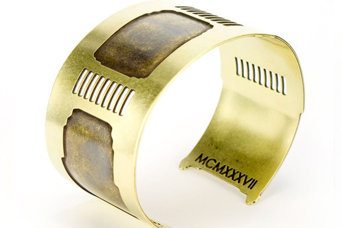 """The Golden Gate Bridge Cuff, <strong>$74</strong>. Image via <a href=""""&lt;span%20class="""" credit>The Bold Italic.</a>"""