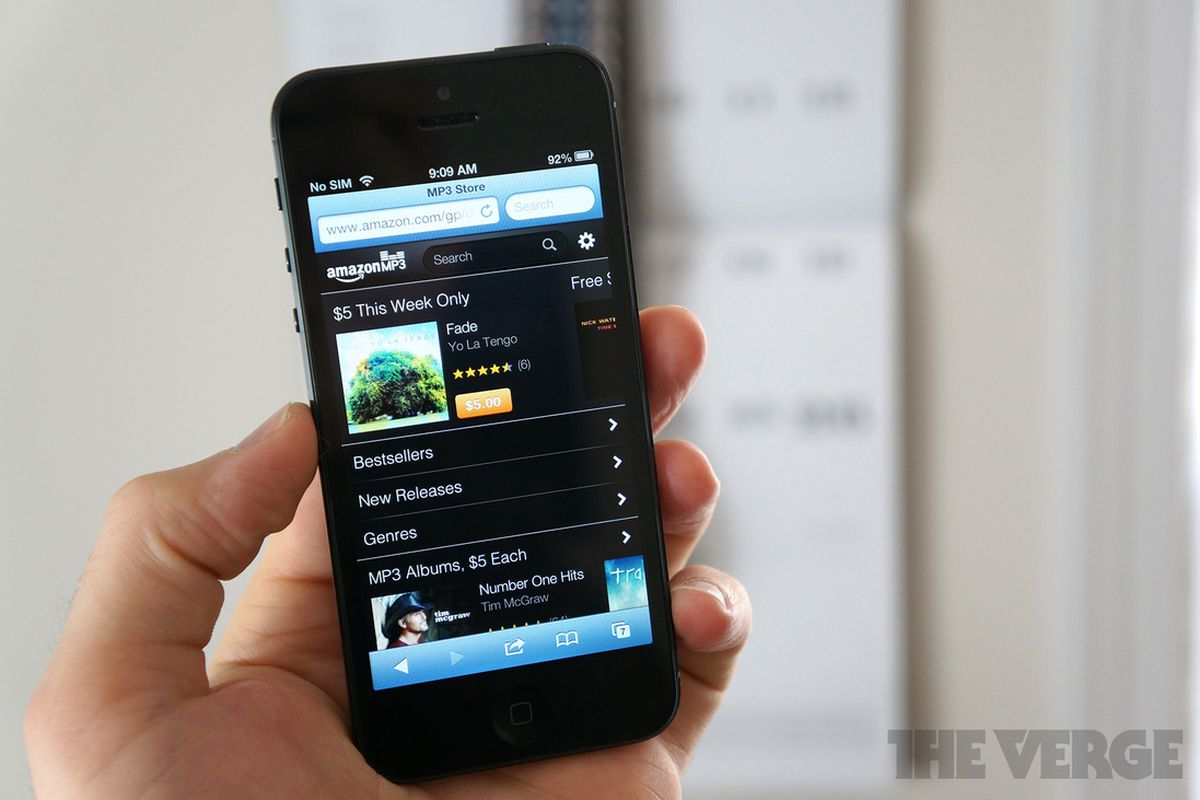 Amazon mp3 store for iPhone