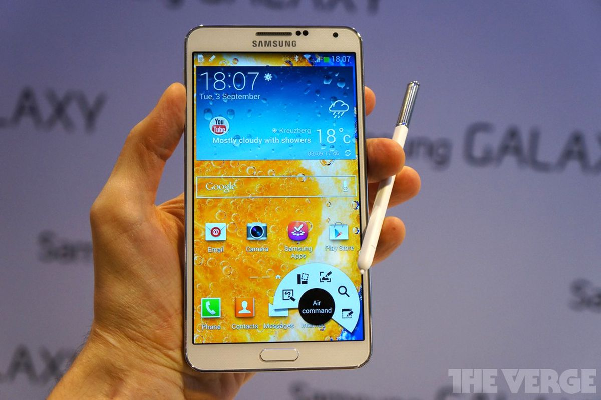 Galaxy Note 3 stock (brighter)