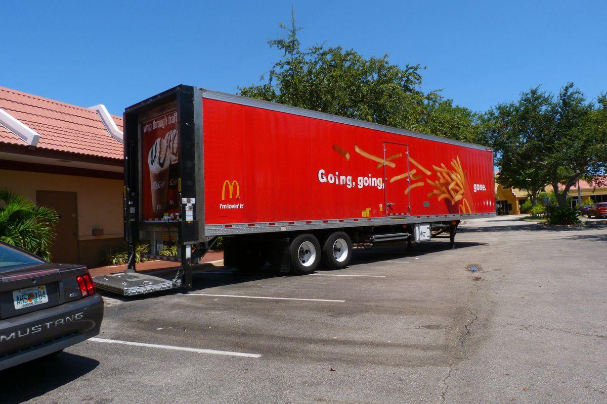 McDonald's Truck Flips and Spills Milk All Over 210 Freeway