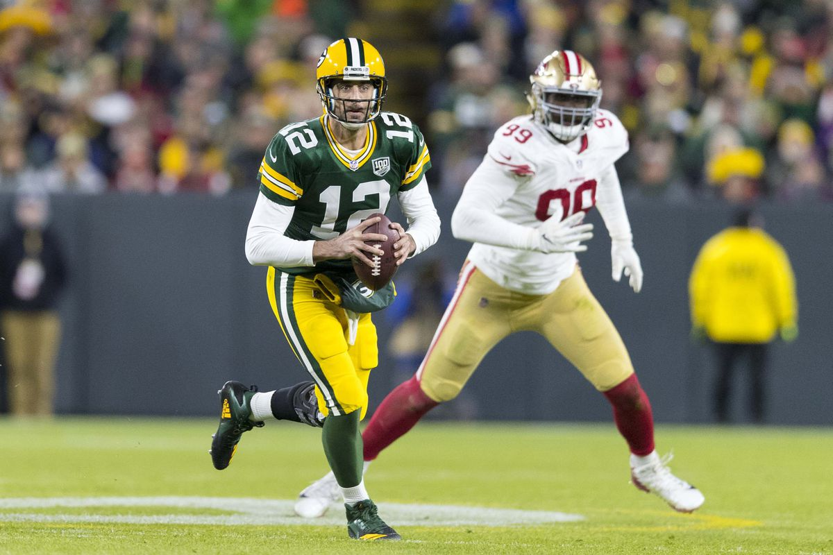 13be462c53f Aaron Rodgers and the Packers won a surprisingly awesome  Monday Night  Football  game