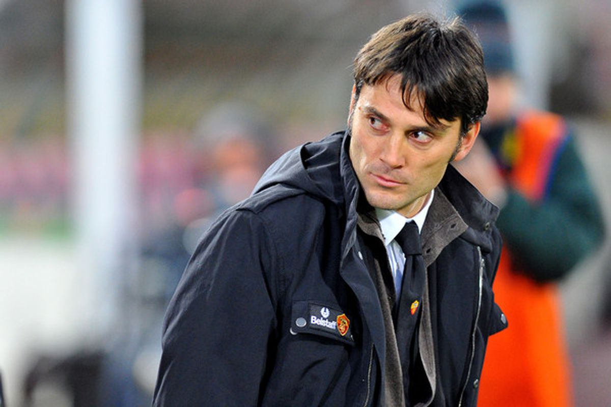 BOLOGNA ITALY - FEBRUARY 23:  Roma coach Vincenzo Montella looks on during the Serie A match between Bologna FC and AS Roma at Stadio Renato Dall'Ara on February 23 2011 in Bologna Italy.  (Photo by Roberto Serra/Getty Images)