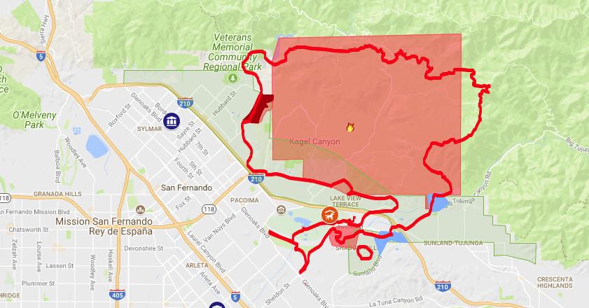 Creek Fire map, including evacuation zones - Curbed LA