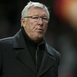 Manchester United's  manager Sir Alex Ferguson walks from the pitch after his team's 1-0 win over Galatasaray in their Champions Graoup H soccer match at Old Trafford Stadium, Manchester, England, Wednesday, Sept. 19, 2012.